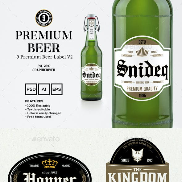 9 Premium Beer Labels V2