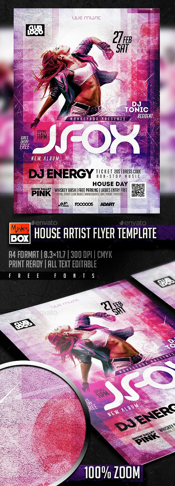 House Artist Flyer Template - Flyers Print Templates