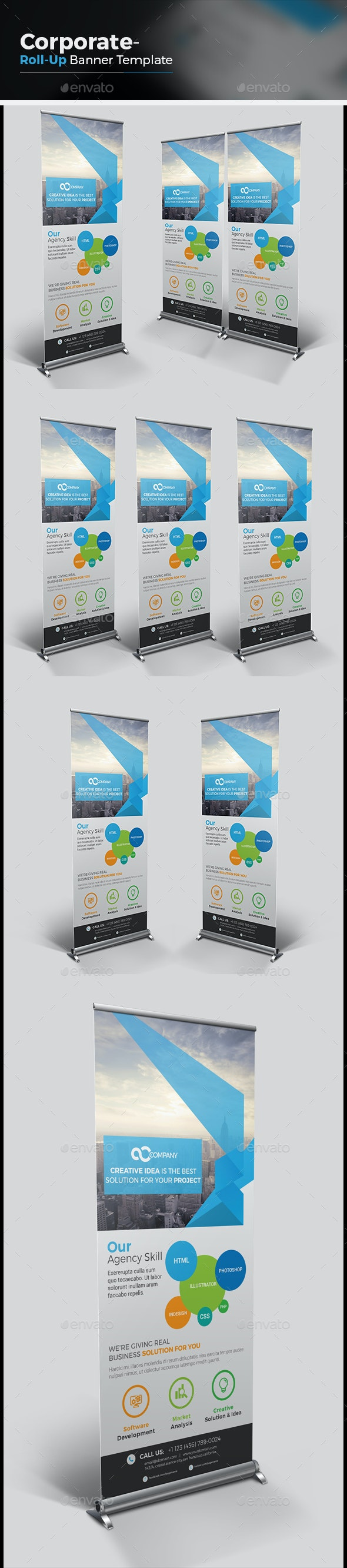 Agency Roll-up Banner - Signage Print Templates