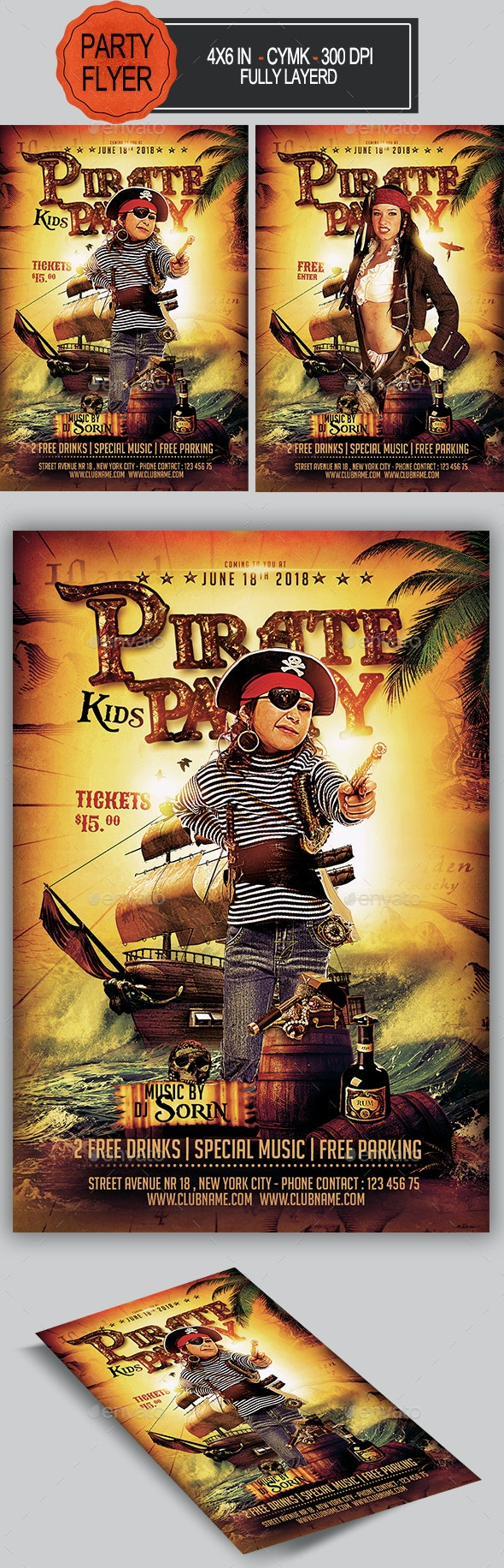 Pirate Party Flyer - Clubs & Parties Events