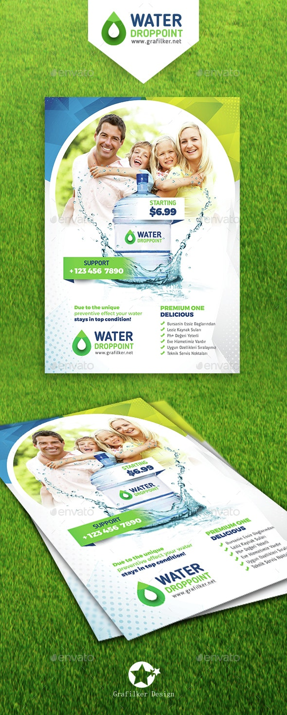 Drinking Water Service Flyer Templates  - Corporate Flyers