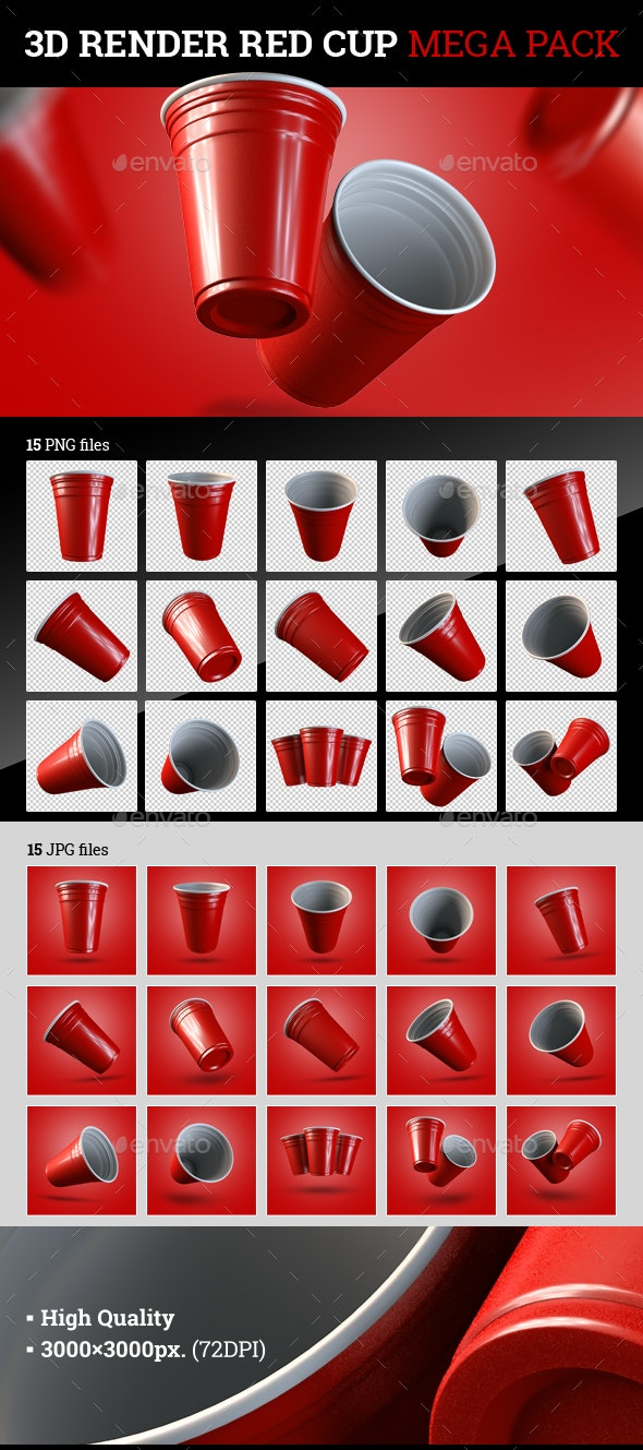 Red Cup 3D Render - Objects 3D Renders