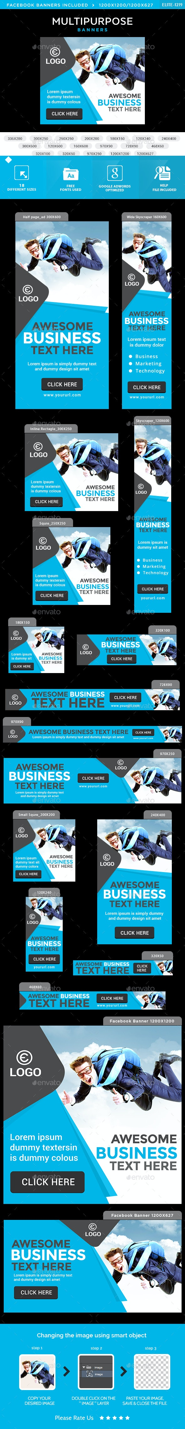 Multipurpose Banners - Banners & Ads Web Elements