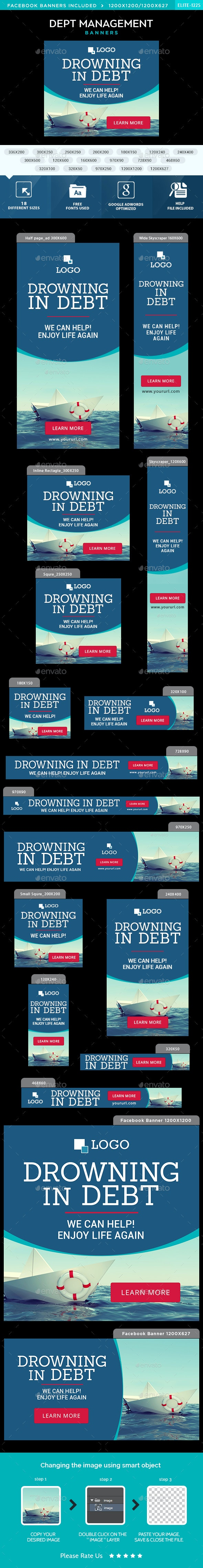 Debt Management Banners - Banners & Ads Web Elements