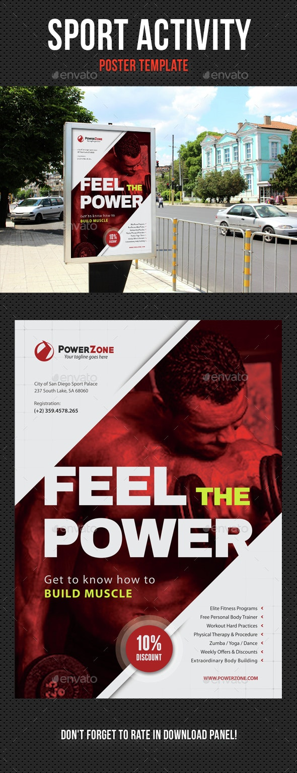 Sport Activity Poster Template V20 - Signage Print Templates