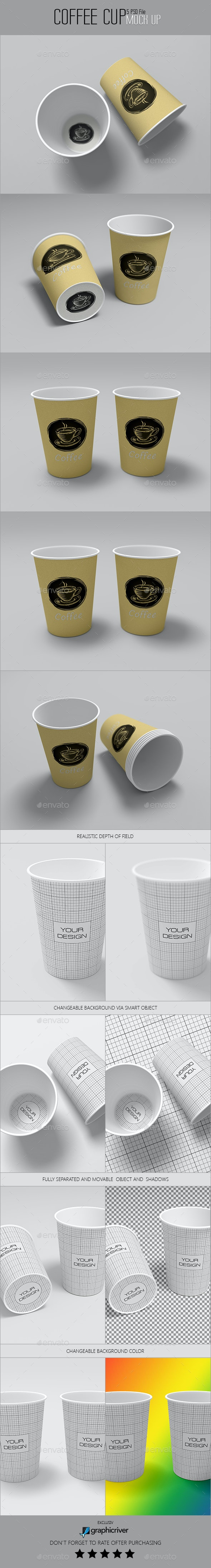 Coffee Cups - Product Mock-Ups Graphics