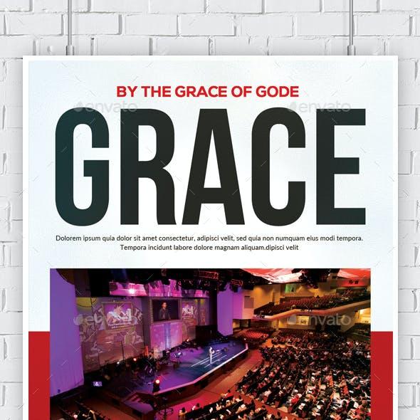 By The Grace of God Flyer Psd