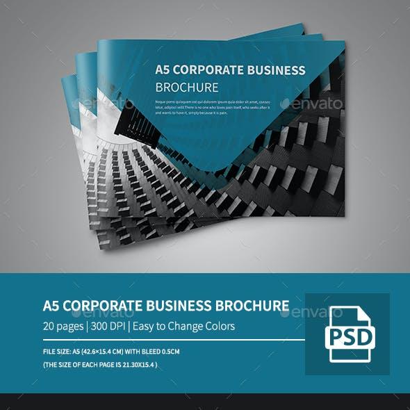 A5 Corporate Business Landscape Brochure