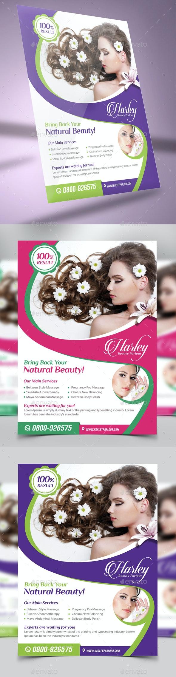 Beauty Salon Flyer - Corporate Business Cards