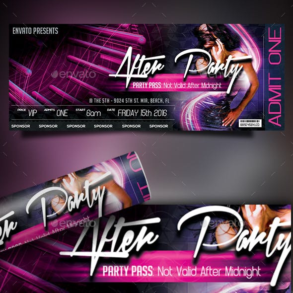 Print Ready Event Ticket-After Party