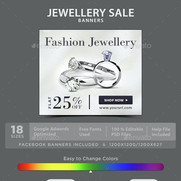 Jewellery Sale Banners
