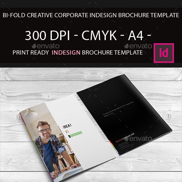 Bi-Fold Indesign Brochure Template