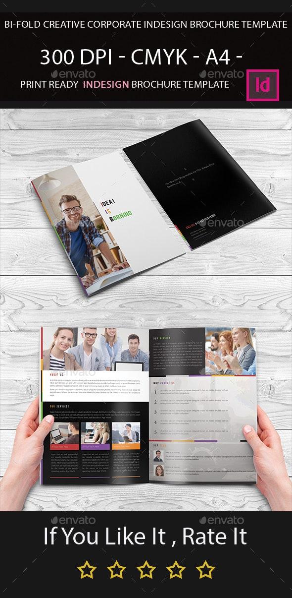 Bi-Fold Indesign Brochure Template - Corporate Brochures