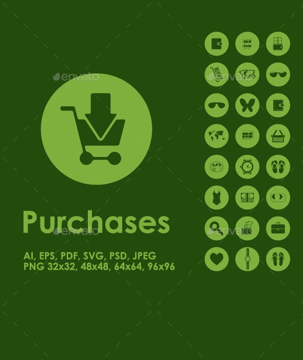 Shopping simple icons - Business Icons