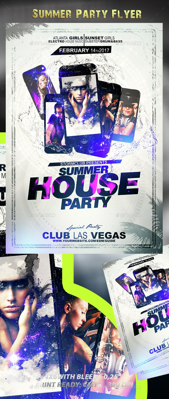 Summer Party Flyer V2 - Events Flyers