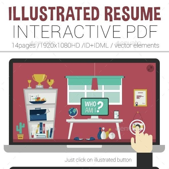 Illustrated Interactive PDF Resume