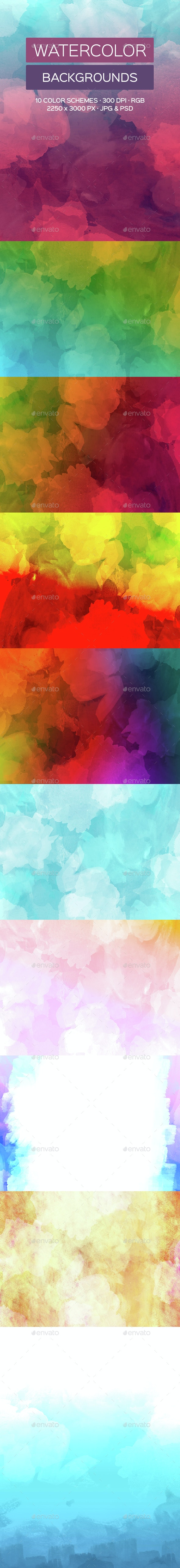 Water Color Backgrounds - Abstract Backgrounds