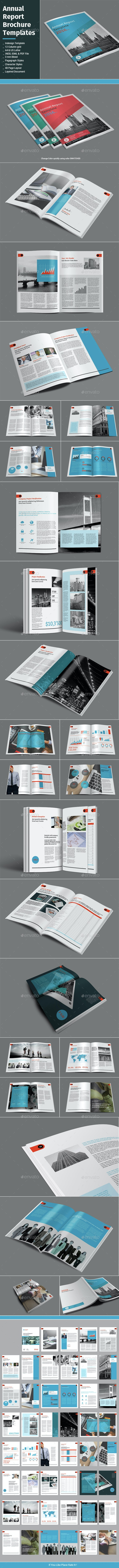 Annual Report Brochure Templates - Informational Brochures