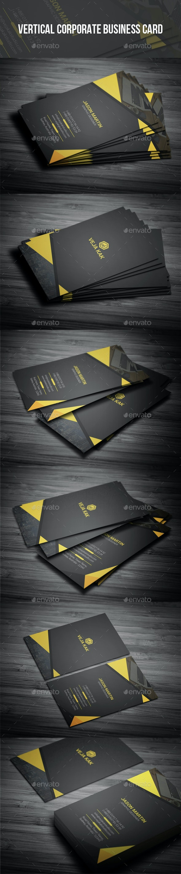 Vertical Corporate Business Card - Corporate Business Cards