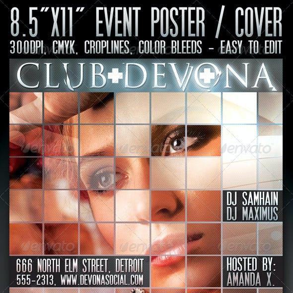 """8.5""""x11"""" Poster """"Devona"""""""