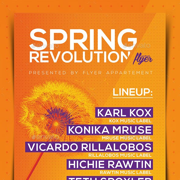 Spring Revolution Flyer