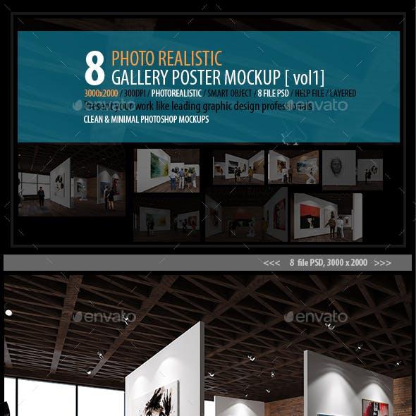 Gallery Poster Mockups (vol 1)