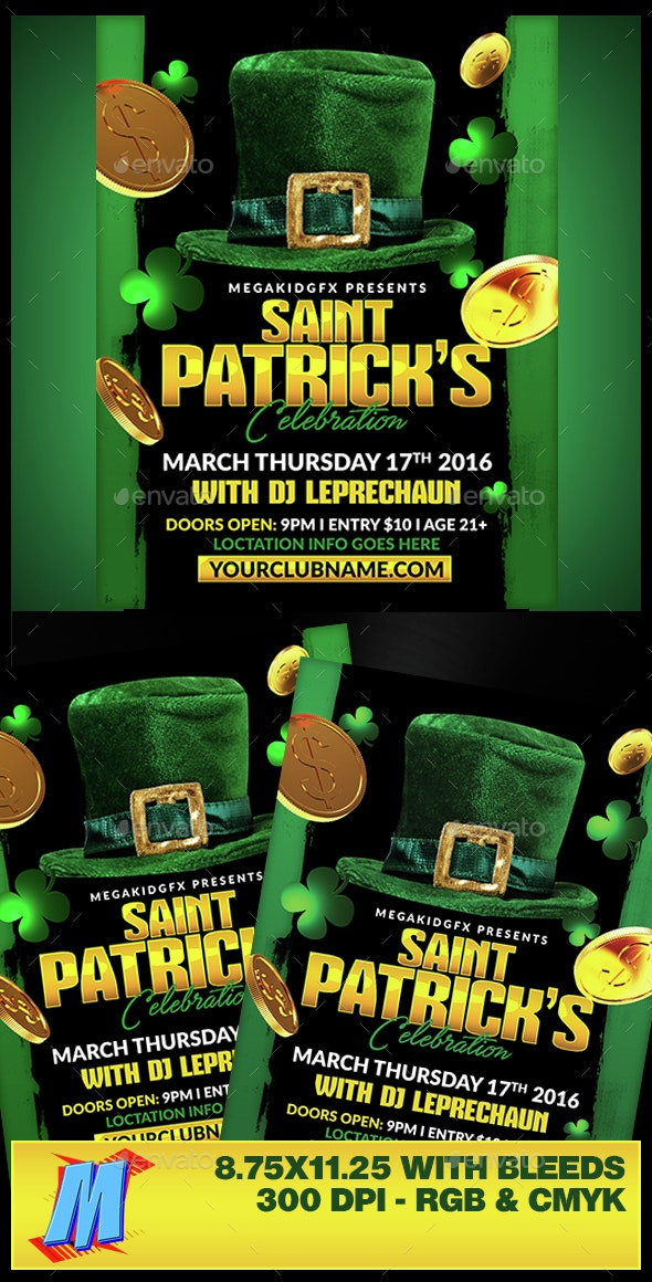 St Patricks Flyer Template - Clubs & Parties Events