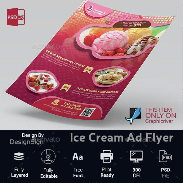 Ice Cream Ad Flyer