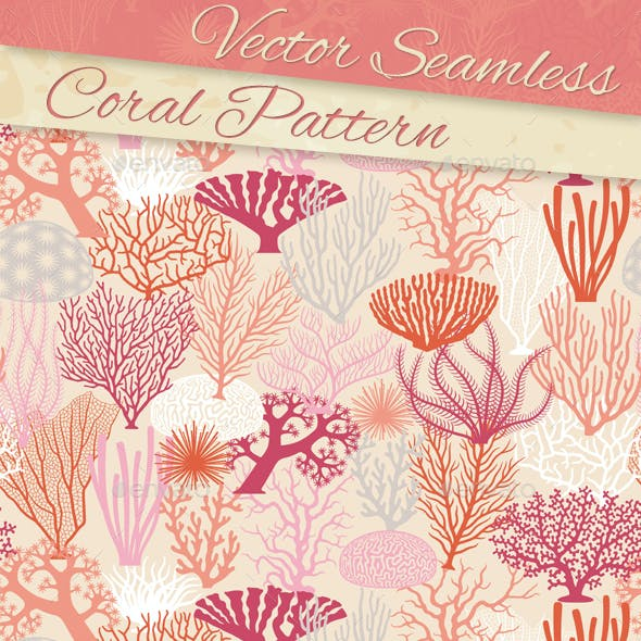 Coral Texture and Silhouettes