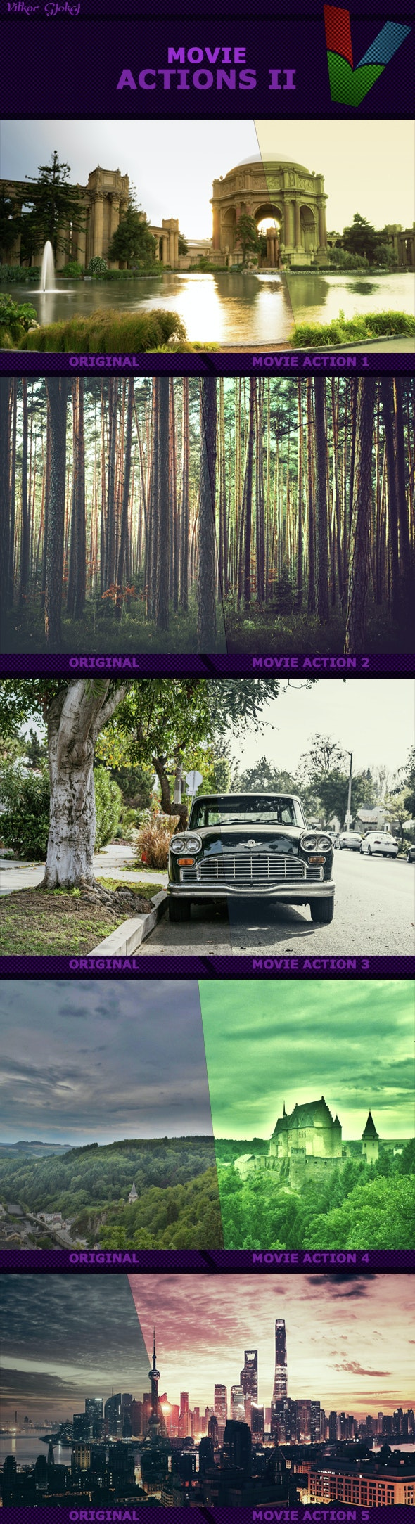 Movie Actions II - Photo Effects Actions