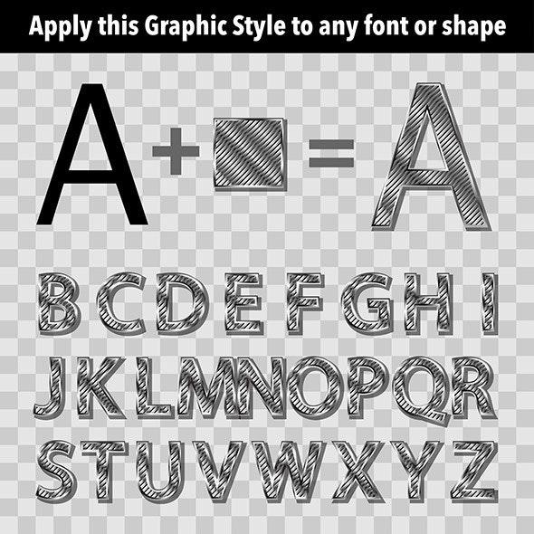 Metal Graphic Style 2 - Styles Illustrator