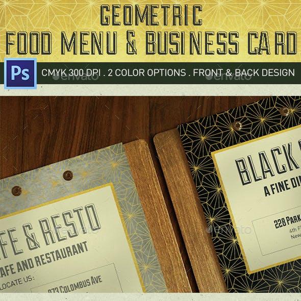 Geometric Food Menu