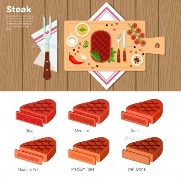 Tasty Steak Served On The Table