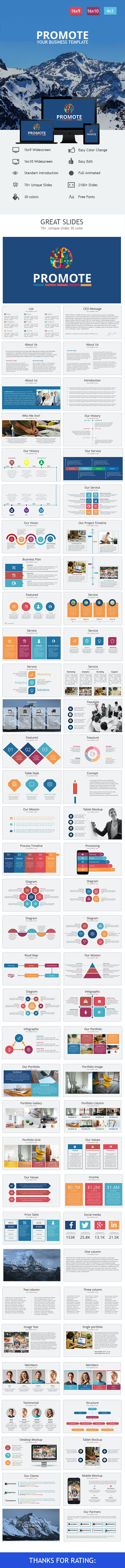 Promote - Clean Introduction Powerpoint Template  - Business PowerPoint Templates