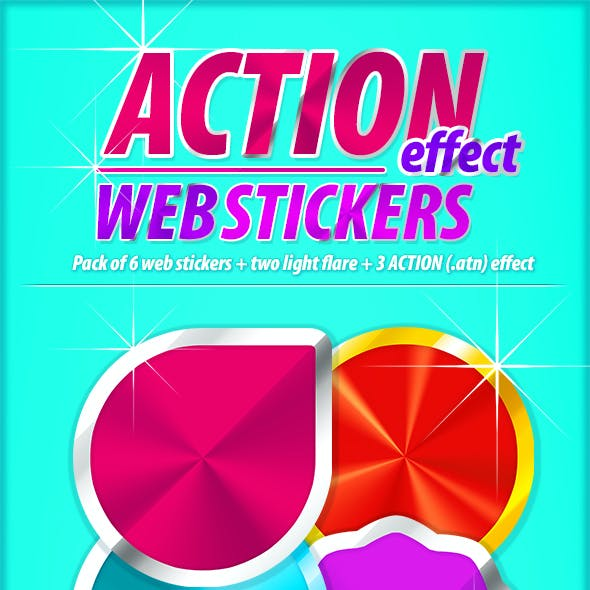 Action Effect Web Stickers