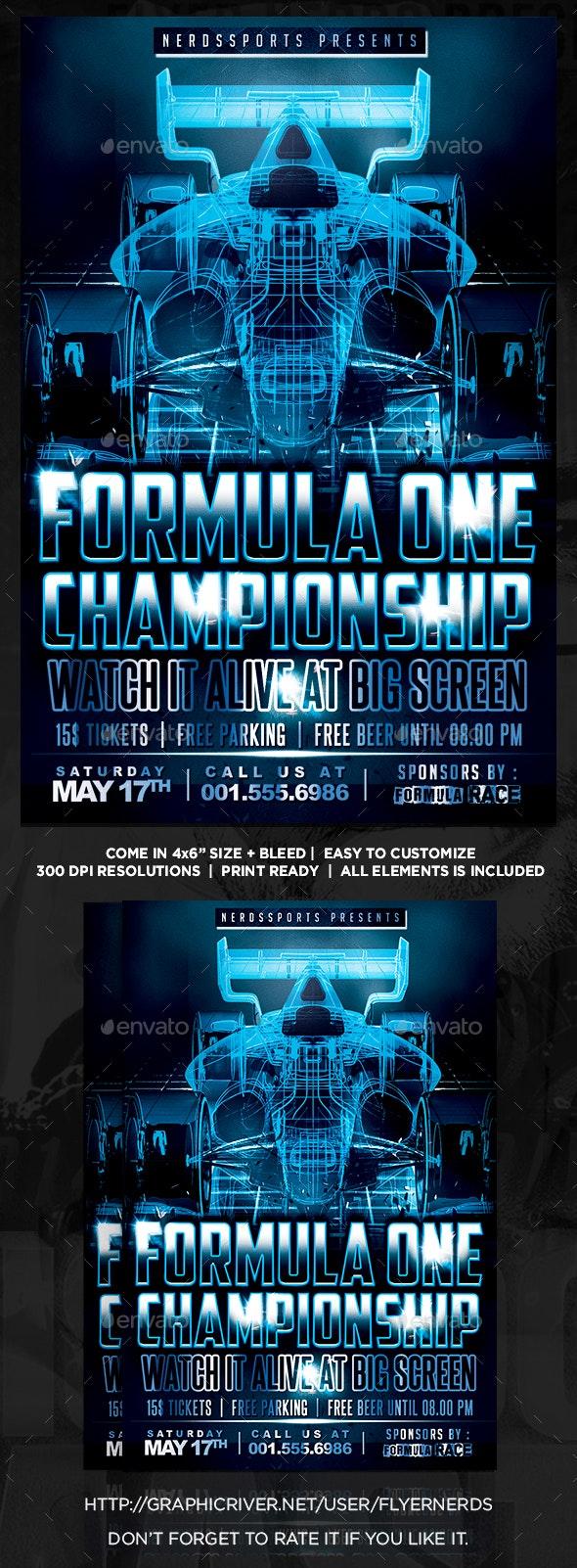 Formula Race Championships Sports Flye - Sports Events