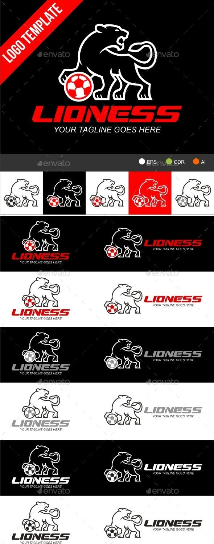 Lioness - Animals Logo Templates