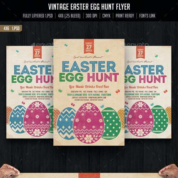 Vintage Easter Egg Hunt Flyer