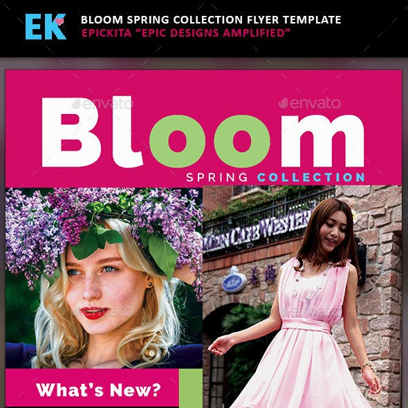 Bloom Spring Collection Flyer Template