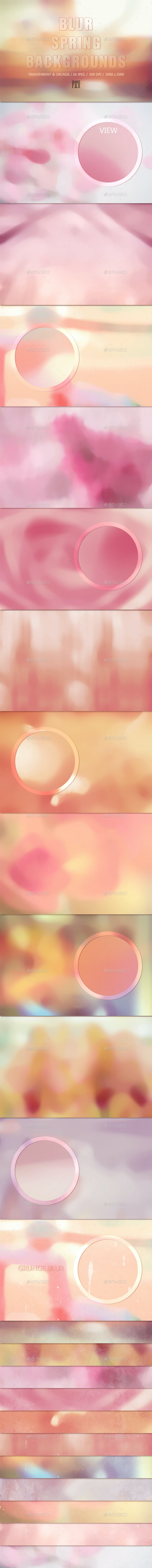 24 Blurred Spring Backgrounds - Abstract Backgrounds