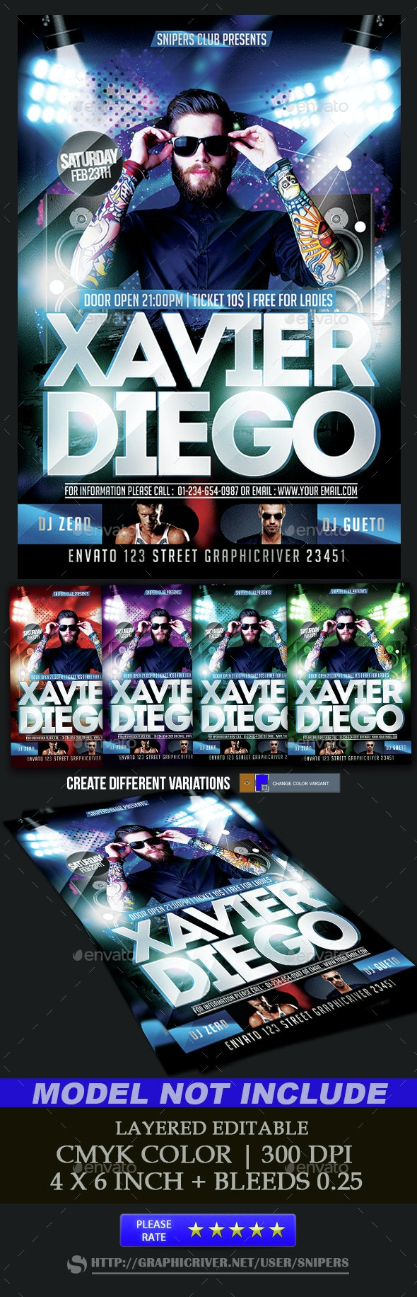 Guest Dj Flyer - Events Flyers