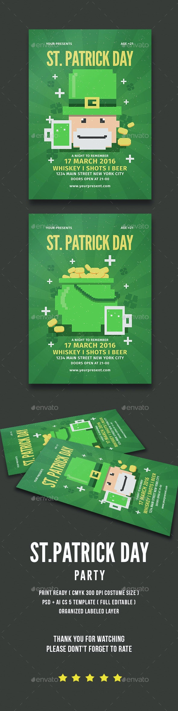 St.Patrick Day Party - Events Flyers