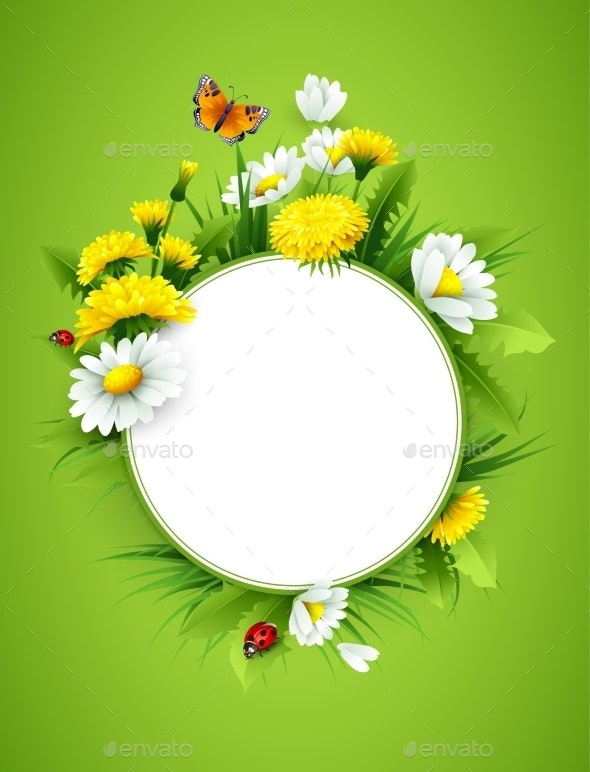 Fresh Spring Background - Flowers & Plants Nature