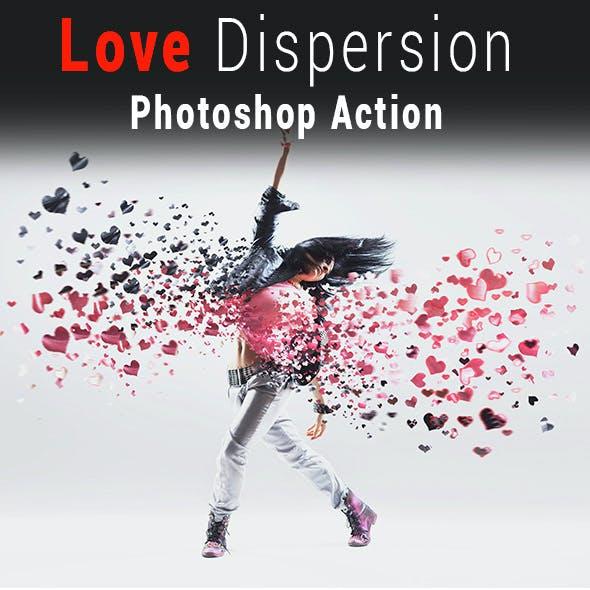 Valentine Love Dispersion Photoshop Action