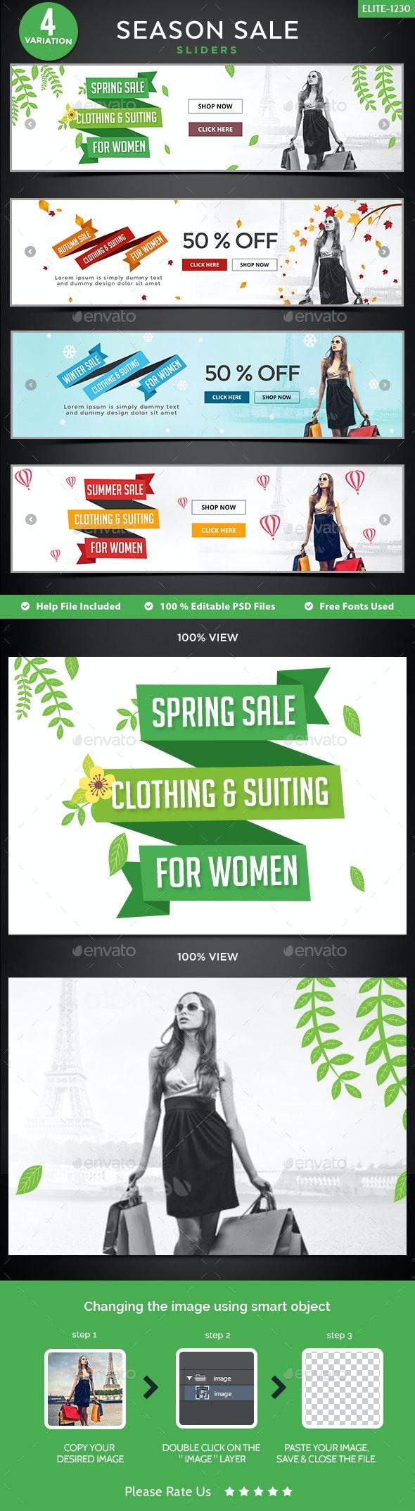 Season Sale Sliders - 4 Colors - Sliders & Features Web Elements