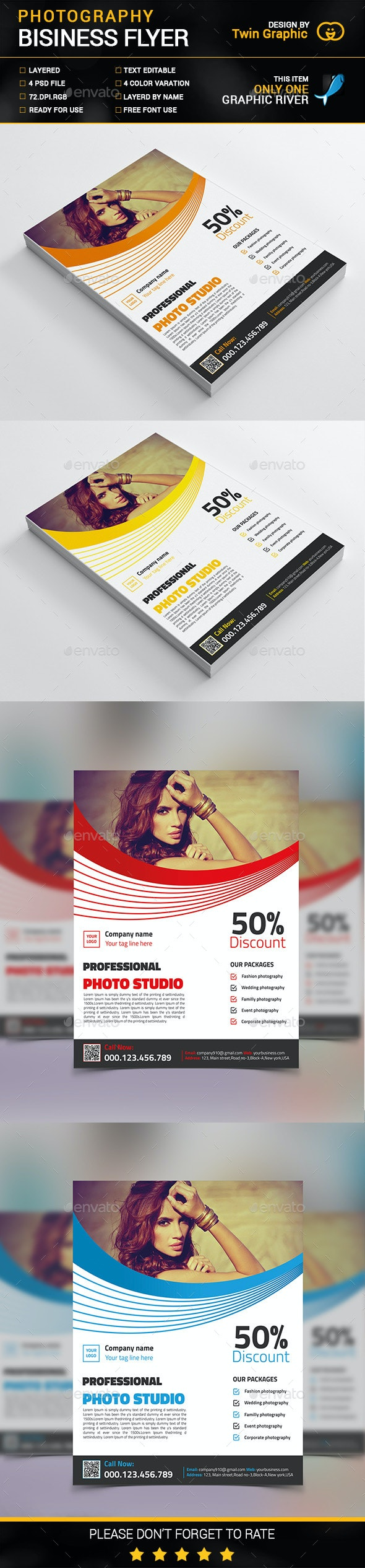 Photography Business Flyer Design - Corporate Flyers