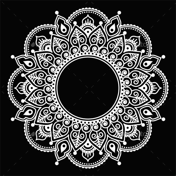 Mehndi Lace Round Design