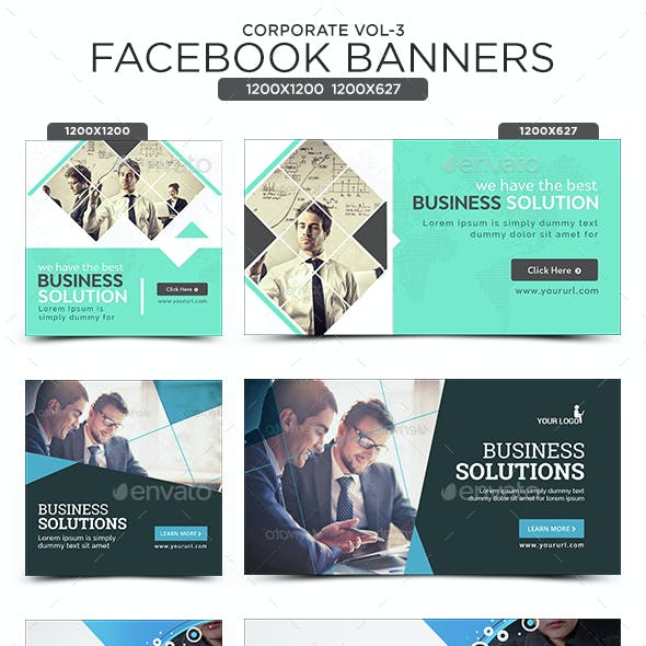 Corporate Facebook Banners - 10 Designs - 20 Banners