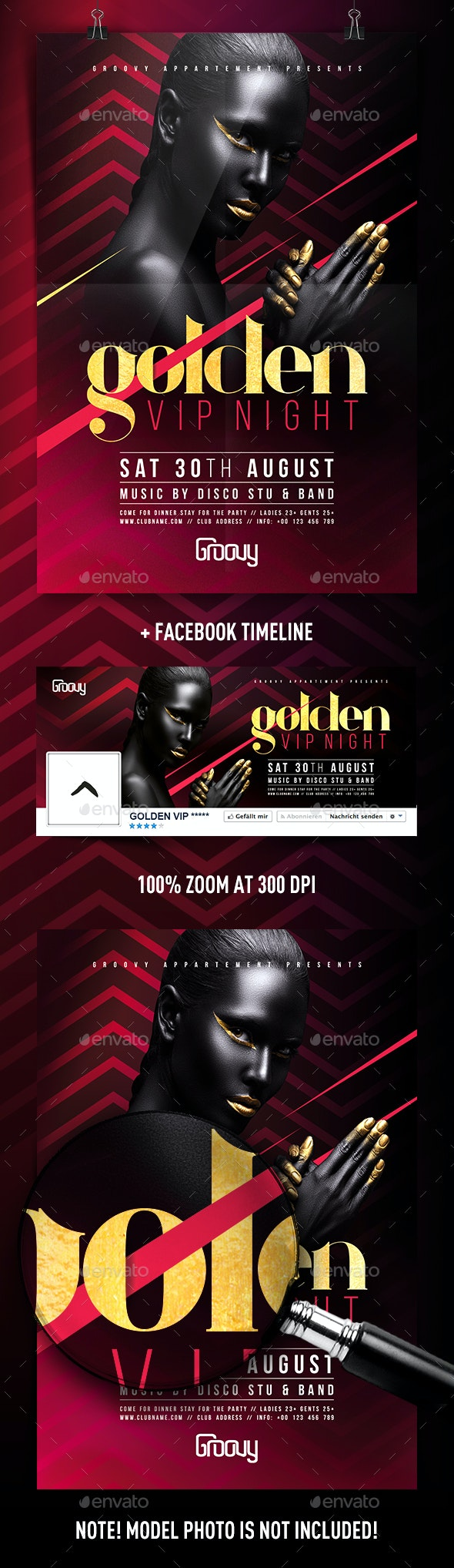 Golden VIP Night Flyer - Clubs & Parties Events