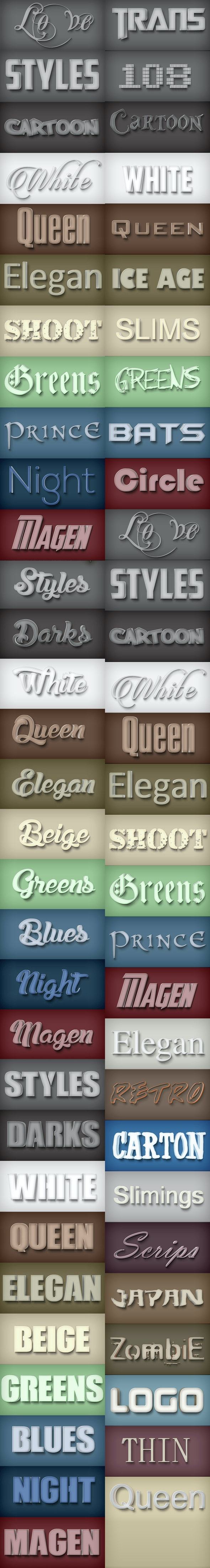 30 Bundle Elegant Styles Vol 1.3 - Styles Photoshop